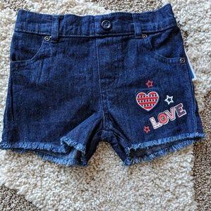 NWT Toddler Girl Denim Shorts